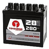 Tokohama Rasentraktor Batterie Aufsitzmäher 28Ah 12V +Pol Rechts statt 22Ah 24Ah 26Ah 12N24-3