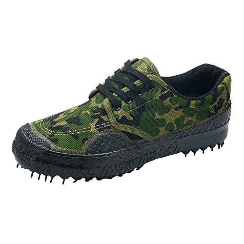 Juleya Freizeitschuhe Sportschuhe - Herren Breathable Segeltuchschuhe Camouflage Military Turnschuhe Trainer Outdoor Armee Schuhe Wanderschuhe Durable Rutschfeste Low-Top Sneakers (Casual Loafer Straße)