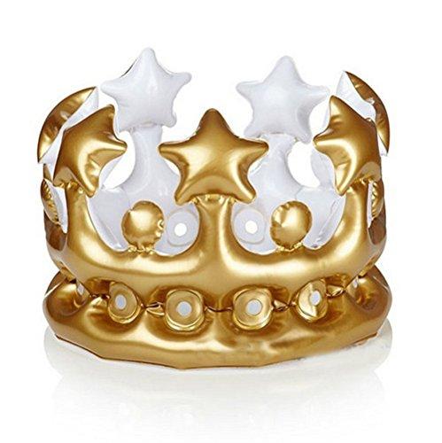 Artistic9 Partyhüte Gold Party Kinder Kinderkrone Ballon Geburtstag Hut Aufblasbarer Hut (Gold)