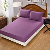 ZZHU Simmons mattress solid color bed single bed cover, pillowcase pair, 48x74cm