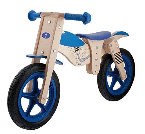M-Wave Moto Bicicleta Infantil de Madera, Unisex adulto, Marrón, 12