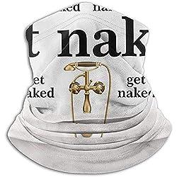 Royfox nackte Zitat Worte mit Badewanne Unisex Nackenwärmer Winddicht Winter Nackenschutz Kaltes Wetter Gesichtsmaske für Männer Frauen