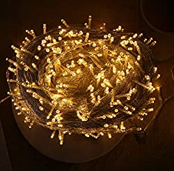 QYL Dimmable String Lights 100M, 600 LEDs Rope Fairy Lighting Waterproof Decoration for Christmas Tree, Garden, Holiday, Party, Wedding, Indoor & Outdoor, Patio,Yellow