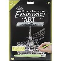 Royal Brush Grabado de la torre Eiffel arte