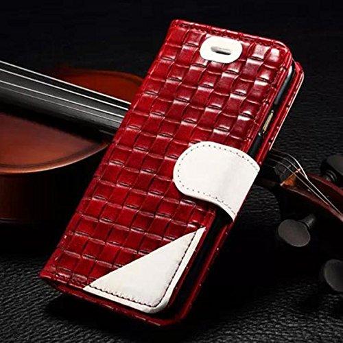 Case Section Couleur Collision ŽlŽgant en cuir tissŽ PU pour iPhone 6 marron