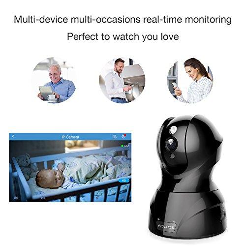 1080P HD Wireless Wlan/Wifi IP Kamera Überwachungskamera 2MP Aoleca Zweiwege-Audio Indoor Kabellose Security IP Cam Home Baby Monitor Mit Bewegungserkennung - 5