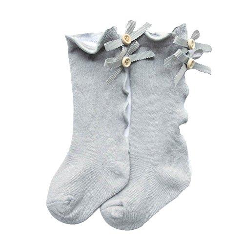 Loveble Baby Toddler Girl Butterfly Ear Stockings Children Socks Cotton Flower Lace Socks Leg Warmers