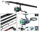 Sea Fishing Kit With 10' Telescopic Pier Surf Sea Fishing Travel Rod & Reel