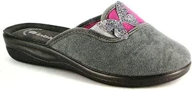 inblu CF 24 Pantofole pianelle Ciabatte Slippers Donna Panno