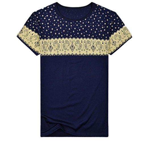 9d232d731162 Homebaby Estivi Maglietta Manica Corta Uomo Paisley Stampato T-Shirt  Sportivi Vintage - Casual Camicia Elegante Cotone Maglione Tumblr Estiva  Particolari ...