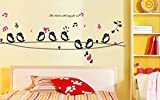 Decals Design 'Cute Singing Birds' Wall ...