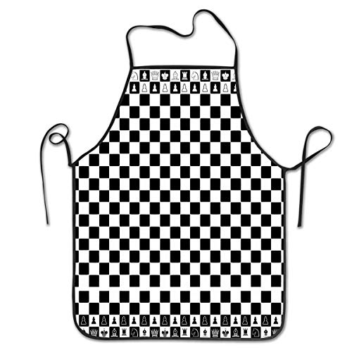 HTETRERW Novelty Apron for Restaurant & Home Kitchen, Water Drop Resistant, Women Waitress Apron with Comfortable Neck/Sides Straps, Black and White Piano Keys for Cooking and Dish - Piano Mann Kostüm