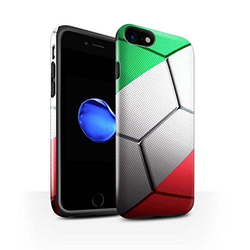 STUFF4 Glanz Harten Stoßfest Hülle / Case für Apple iPhone 7 / Italien Muster / Fußball Nationen Kollektion Italien