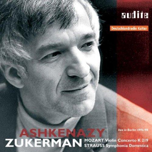 Mozart : Violin Concerto K.219 (Pinchas Zuckerman); Strauss: Symphonia Domestica (DSO Berlin / Ashkenazy) by Pinchas Zuckerman (0.219)