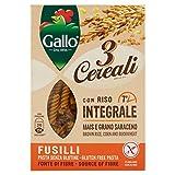 Riso Gallo Fusilli 3 Cereali con Riso Integrale, Mais e Grano Saraceno - Confezione da 250 gr