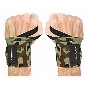 Rip Toned Professionelles Handgelenkbandage 45,7 cm mit Daumenring, Unisex für Gewichtheben, Crossfit, Krafttraining und Krafttraining, Eebook inklusive