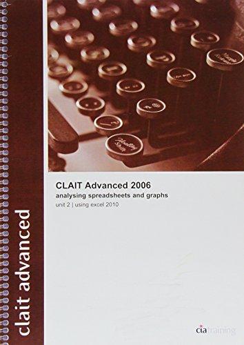 CLAIT Advanced 2006 Unit 2 Analysing Spreadsheets and Graphs Using Excel 2010: Unit 2 (Ocr Level 3 Itq) por CiA Training Ltd.