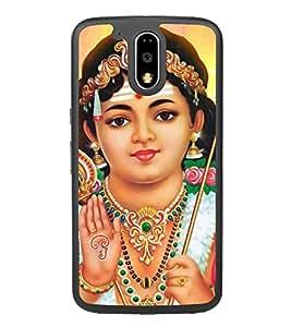PrintVisa Designer Back Case Cover for Motorola Moto G4 Plus (Ayyappa Manikanta Sabarimalai Hindu God)
