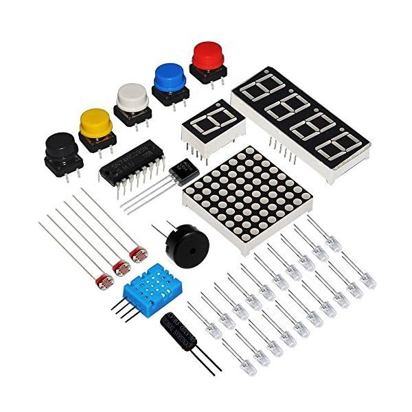 5189dm6s0oL. SS600  - KOOKYE Uno R3 ATmega328 completo kit de arranque para Arduino con 19 proyectos