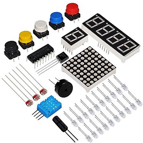 5189dm6s0oL - KOOKYE Uno R3 ATmega328 completo kit de arranque para Arduino con 19 proyectos