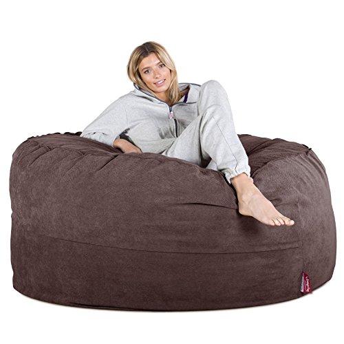 LOUNGE PUG®, Riesen Sitzsack Sofa C1000-L, CloudSac Latexflocken-Mischung, Schlafsofa, Waffelgewebe Schoko