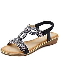 XZGC Sandali Piatto Antiscivolo Rivetto Tipo di Scarpe da Donna, 37 EU, Argento
