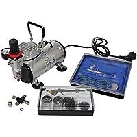 VidaXL 140283 Kit compresseur Airbrush professionnel 2 pistolets