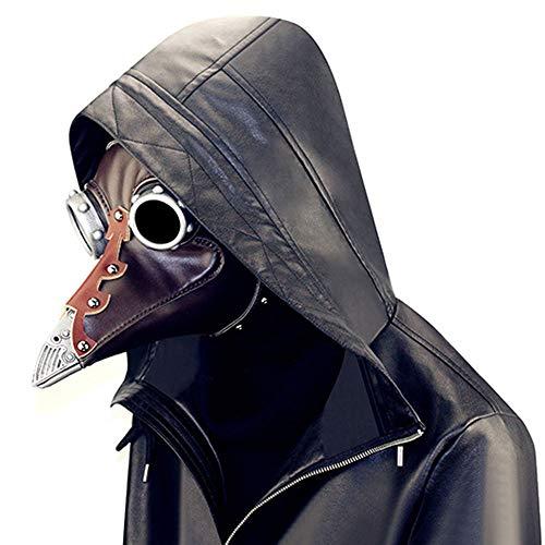 VISTANIA Dampf-Punk-Maske Pest Doktor Mittelalterliche Steampunk Maske Halloween Party ()