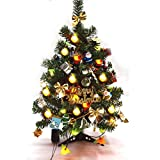 Gold mango Albero di Natale artificiale tradizionale verde indoor Xmas LED illuminazione tavola 60cm-23,6 pollici di peso elevato 0.5 kg