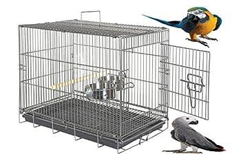 Wundapets Extra Large Perroquet Gris du Gabon cacatoès Heavy Duty Grande Parrot Cage de transport de voyage