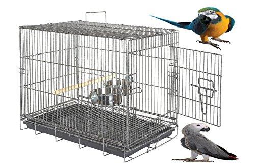 wundapets Extra große Aras Graupapageien Kakadus schwere Großer Papagei Reise Tragetasche Käfig