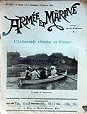 ARMEE ET MARINE [No 153] du 26/01/1902 - L'AMBASSADE CHINOISE EN FRANCE - LA FAMILLE DE L'AMBASSADEUR - LE CINQUANTENAIRE DE LA MEDAILLE MILITAIRE - LES TERRITOIRES FRANCAIS DU CHARI - AU CHARI - LE COMBAT DE DIKOA - LA TRAVERSEE DU SAHARA EN BALLON PAR M. B. - LES CHIENS PLONGEURS PAR MAURICE BRANGER - LE PORT DES MEDAILLES COMMEMORATIVES PAR C. BOISSONNET - A LA SALLE D'ARMES DU 9E D'INFANTERIE - EN CHINE PAR MAURICE BRANGER - SUR LA COMPOSITION DES ESCADRES FRANCAISES PAR