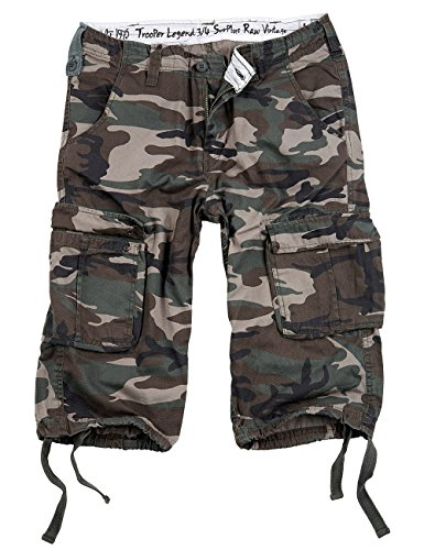 Surplus Trooper Legend 3/4 Shorts, woodland, Größe 6XL