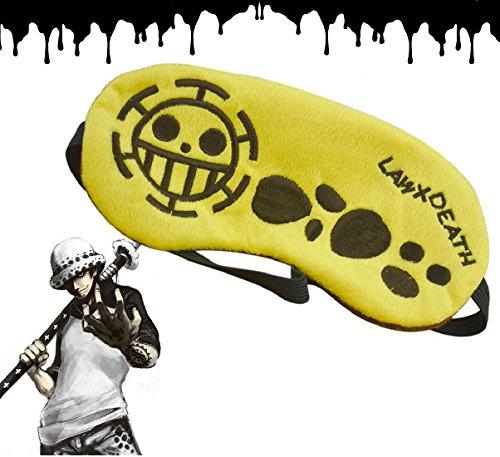 CoolChange One Piece Trafalgar Law Schlafmaske mit Jolly Roger der Heart Piratenbande