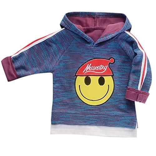 Dasongff Kinder Hoodie Smiley Drucken Pullover mit Kapuze Casual Sweater Sweatshirt Patchwork Kapuzenpullover Hemd - Einfache Rapunzel Kostüm