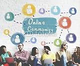 druck-shop24 Wunschmotiv: Online Community Sharing Communication Society Concept #115279551 - Bild auf Leinwand - 3:2-60 x 40 cm/40 x 60 cm
