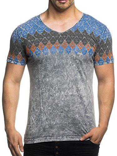 razzio-16108-camiseta-con-cuello-en-v-con-diseno-flocado-gris-medium