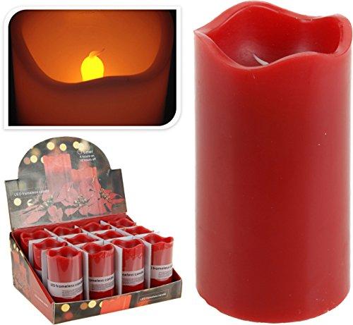 VISCIO TRADING vela cilíndrica Rojo 150gr Cm7X13 En pantalla Led