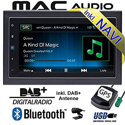 Autoradio-Radio-Mac-Audio-Mac-520-DAB-2-DIN-Navigation-USB-Bluetooth-DAB-Navi-Einbauzubehr-Einbauset-fr-Dacia-Dokker-2DIN-JUST-SOUND-best-choice-for-caraudio