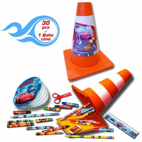 Imagen principal de D'Arpèje CDIC002 Cars - Estuche con material para colorear con diseño de cono