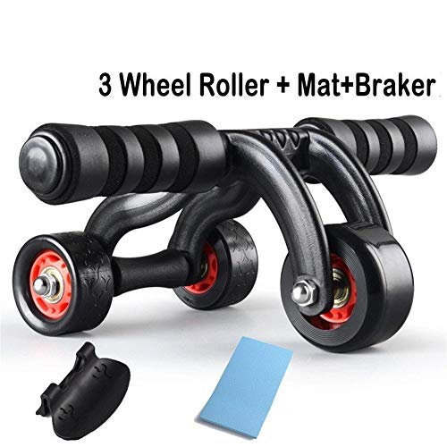 IN THE DISTANCE AB Abdominal Roller 3 Rad Power Wheel Roller Für Workout Fitness Gym Übung Bodybuilding Trainning (Color : Red) - 3-rad-power Roller