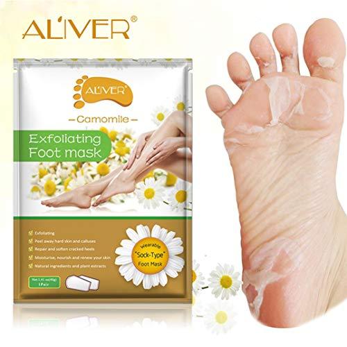 TAOtTAO Foot Mask Exfoliating Peeling Foot Mask Baby Soft Feet Remove Callus Hard Dead Skin Care Smoothing Mask (C)