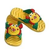 Diapolo Krebs Kinder Badeschuhe Badelatschen Badeschlappen Sandale (gelb, 32)