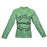 Beanie Bugs Printed Space Dyed Green T-Shirt For Toddler Boys (3-4 Years)