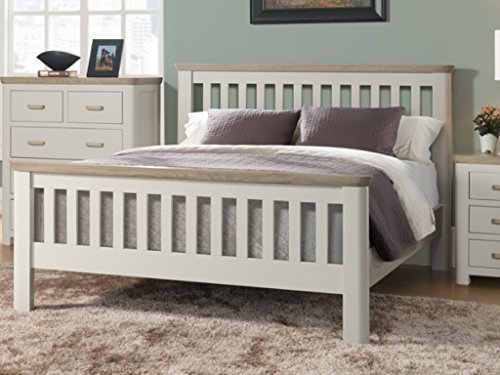 The One Wate Lackiert Eiche Massiv 3Ft Single Bett-3ft Single Bett Lackiert Eiche Massiv-3ft Bett Rahmen-Schlafzimmer Möbel-Kinder Schlafzimmer Möbel -