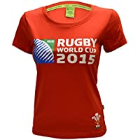 LADIES WALES ORIGINAL WRU RUGBY WORLD CUP 2015 SKINNY FIT PRINTED T-SHIRT TOP
