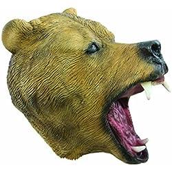P 'tit payaso 40065máscara adulto látex completo oso marrón, talla única