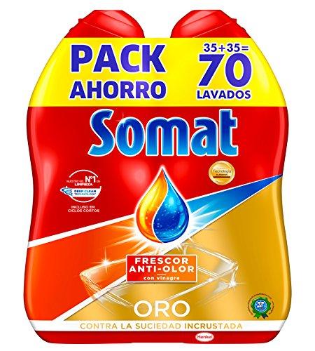 Somat Oro Gel Lavavajillas Vinagre - 70 Lavados