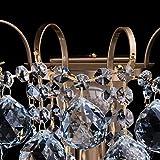 Kleine schicke Wandleuchte 1-flammig barock modern bronzefarbiges Metall Kristallkugeln klar indirektes sanftes Licht für Wohnzimmer Schlafzimmer Diele Flur Halle Restaurant exkl.1*60W E14 - 8