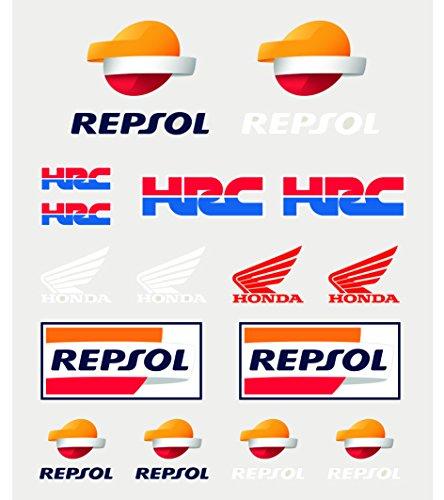 Unbekannt Honda Repsol Moto GP Team Aufkleber Set Offiziell 2018 - Honda Für Aufkleber-set